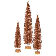 24 30 36 Unlit Artificial Christmas Tree Glitter Oval Set