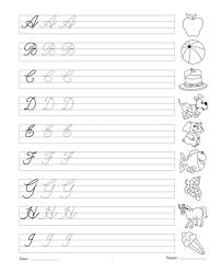 Printables Cursive Capital Words For Kinder Garden Messygracebook