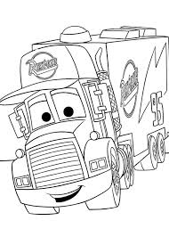 Cars Mack From Disney 2 Coloring Page