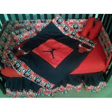 chicago bulls and michael jordan crib bedding set