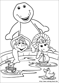 Barney And Friends Online Coloring Pages Printable Book For Kids 3