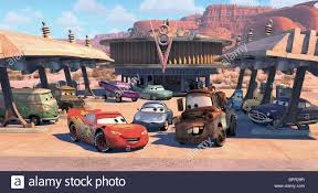 FILLMORE SARGE LIGHTNING MCQUEEN RAMONE FLO SALLY CARRERA MATER THE ...