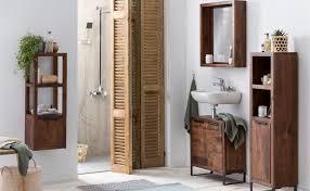 woodkings bad regal schmal sydney massiv holz hängeregal badschrank hochschrank badmöbel badezimmer wandschrank hängend regal mit tür akazie dunkel