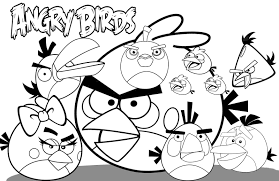 Coloring Pages Printable Angry Birds Color Sheets To Print Pictures Kue White Wallpaper Full