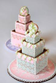 Cookie Boxes stacked to look like a cake It s a centrepiece