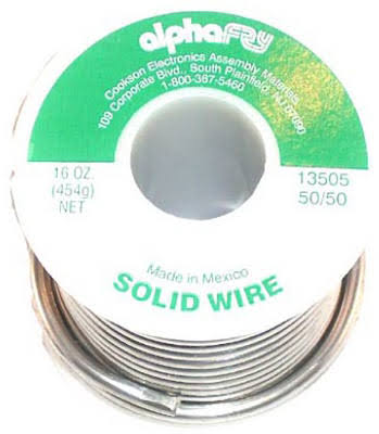 Alpha 13505 Non Electrical Solid Wire Solder - 16oz