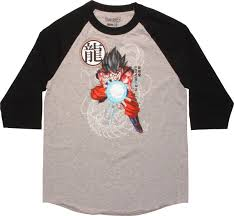 Dragon Ball Z Fish Tank Decorations by Dragon Ball Z Goku Kamehameha Raglan T Shirt Walmart Com