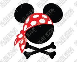 Mickey Mouse Pirate Halloween SVG Cut File Set