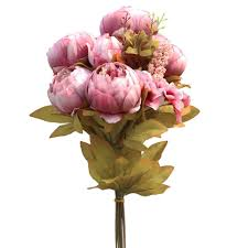 Silk Meeting In My Bedroom Mp3 by Amazon Com Luyue Vintage Artificial Peony Silk Flowers Bouquet