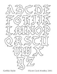 Cool Letter Designs Writing Font Regarding A Z To Draw Tattoo Design