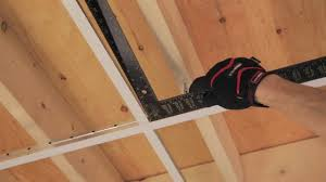 Drop Ceiling For Basement Bathroom by Rona How To Install Suspended Ceiling Youtube