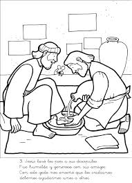 Jesus Washes Disciples Feet Elegant The Coloring Page