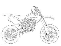 Printable Dirt Bike Coloring Page 3790