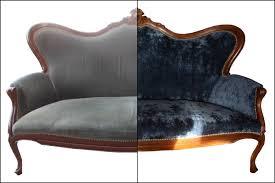 teinture tissu canapé renat canapé en velours bleu