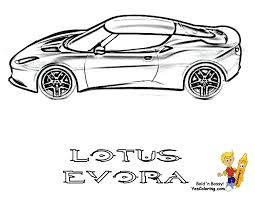 Lotus Evora Side View Print Out Picture At YesColoring