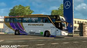 100 Euro Truck Simulator 3 Mod Bus Indonesia Jetbus HDD By FPS Support V12V10 Mod For ETS 2