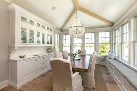 Built In Dining Room Cabinet Cottage With Long Window Seat