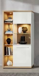 trendteam wohnzimmer set odino bestehend aus vitrine und integriertem regal kaufen otto