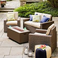 Threshold Patio Furniture Replacement Cushions by Heatherstone 4 Piece Wicker Patio Conversation Furniture Set