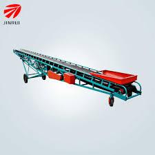 100 Truck Belt 50kg Bags Loading Mobile Conveyor For RiceGrainWheat