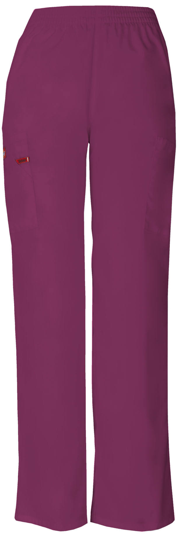 Dickies EDS Signature Women's Missy Fit Pull-On Scrub Pant - Wine (XL)