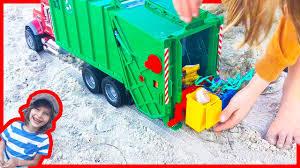 Garbage Truck Videos For Children | Bruder Mac Granite Truck Cleans ...
