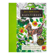 Just Add Color Rainforest Coloring Book