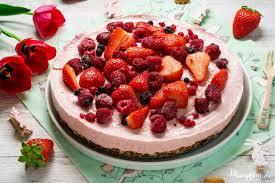 rosa kinder cheesecake ohne raffinierten zucker