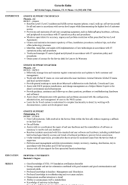 Download Onsite Support Resume Sample As Image File