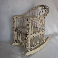 Antique Wicker Rocking Chair For Doll Or Teddy Bear : Neatcurios ...