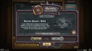 Hearthstone Mage Decks Hearthpwn by Heroic Brawl Returns Today With A Wild Twist News Hearthpwn