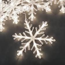 Konstsmide Set 5 Warm White LED Snowflake Lights Outdoor from