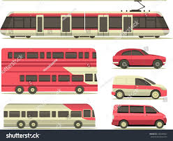 100 Trains Vs Trucks Set Vehicles Cars City Stock Vector Royalty Free