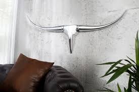 design accessoire bull 100 cm xl wanddekoration metall aluminium legierung geweih