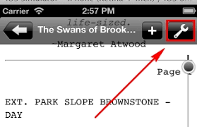 Can I print my script from the Final Draft Reader app on an iPhone