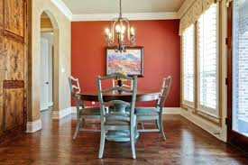 Dining Room Red A Accent Wall And Aqua Walls Design Ideas Wood