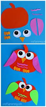 Pumpkin Owl Craft Halloween craft for kids to make Fall art