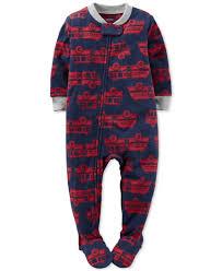 Carter's Toddler Boys' 1-Pc. Firetruck-Print Footed Pajamas ...