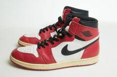 VINTAGE NIKE AIR JORDANS Red White Black Basketball High Top Sneakers 115 Nike AthleticSneakers