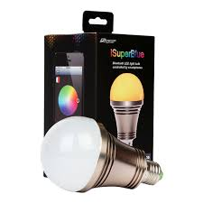 isuper ios android phone bluetooth controlled color changing led bulb