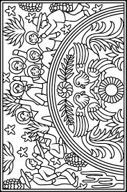 Mexican Designs Stained Glass Coloring Book Dover Publications