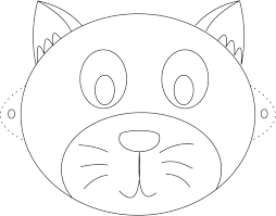 Cat Mask Printable Coloring Page For Kids Template Cheshire Face