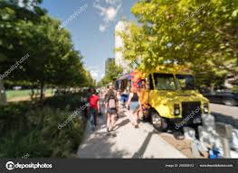100 Dallas Food Trucks Abstract Blurred Motion Truck Vendor Customers Buy Taste