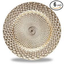 Tahari Home Lamps Crystal by Amazon Com Charger U0026 Service Plates Home U0026 Kitchen