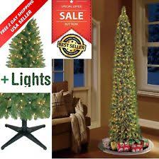 Pre Lit Pencil Slim Christmas Trees by Slim Prelit Christmas Tree Ebay