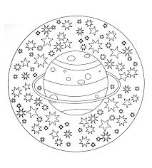 Free Mandala To Color Planet Stars