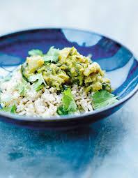 cuisine du riz riz semi complet curry d épinards et de lentilles pour 4 personnes