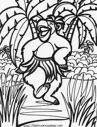 Easy Amazing Jungle Scene Coloring Page