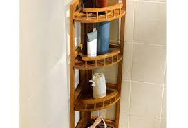 Bamboo Bath Caddy Nz by Corner Shower Caddy 3 Layers Alumimum Triangular Shower Caddy