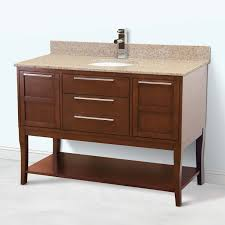 42 Inch Bathroom Vanity With Granite Top by Art Deco 48 Inch Contemporary Bathroom Vanity With Granite Top
